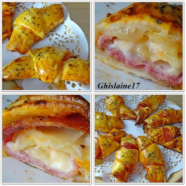 Croissants feuilletés façon pizza