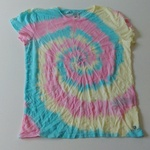 "T-shirt ""tie and dye"" spirale"