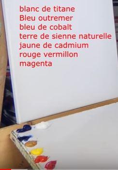 Dessin et peinture - vidéo 3155 : Comment peindre un bord de mer au couteau 1/2 ? - acrylique, huile.
