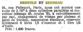 Herdtlé-Bruneau, le petit mono a grossi (énormément !)