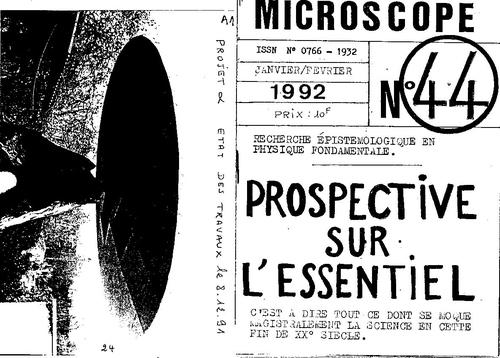Microscope  N°44 prospective sur l'esssentiel