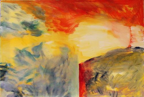 Les étapes d'une peinture ( en train de se faire )