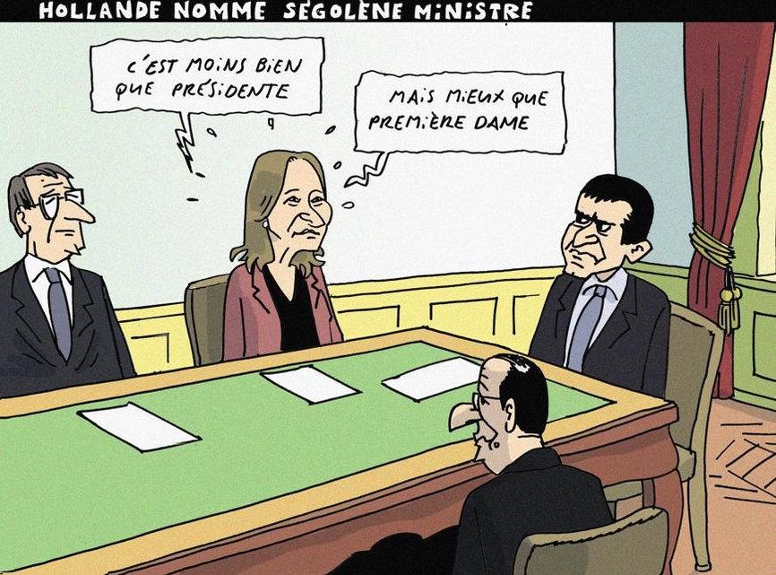 Hollande nomme Ségolène ministre - par Herrmann