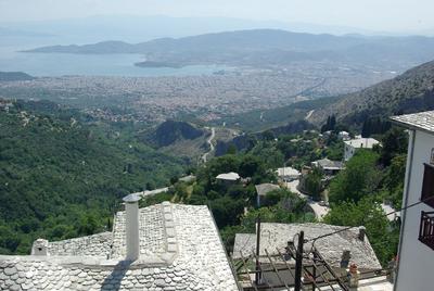 Makrinitsa - vue sur Volos