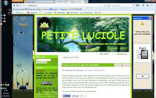 Voyez-vous de la pub sur mon blog?