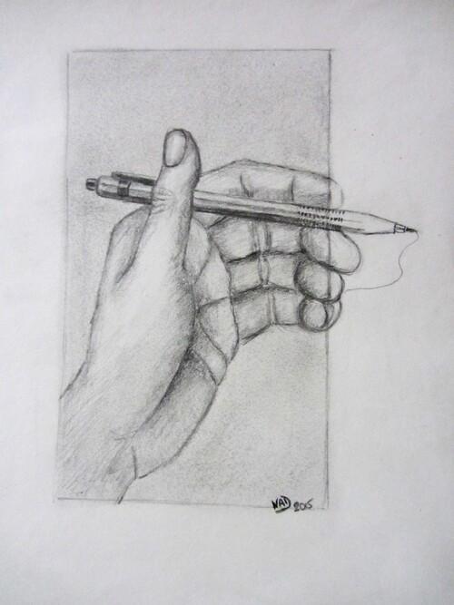 Dessin de mains (ma main gauche)
