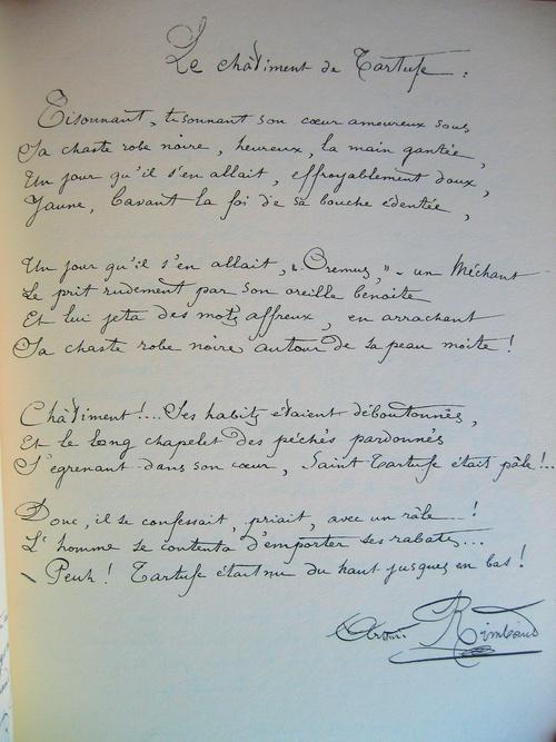 Manuscrit: Le châtiment de Tartufe