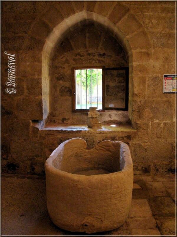 Abbaye de Beaulieu-en-Rouergue le cellier gothique