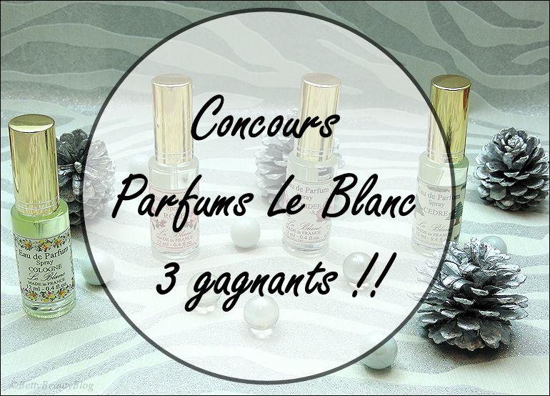 Concours parfums Le Blanc !