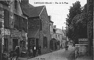 cartes-postales-photos-Rue-de-la-Plage-CAROLLES-50740-50-50