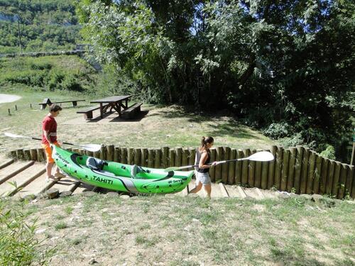 descente du Célé dans le canoë de Simon