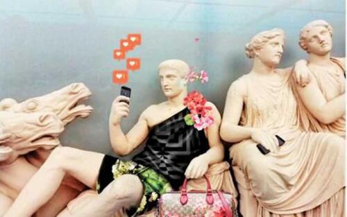 """""""Gucci party"""" chez les Dieux grecs"""