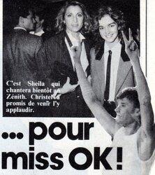 25 octobre 1984 : Sheila au Zénith !