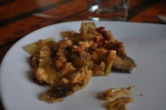Poisson cuisiné à la ratatouille