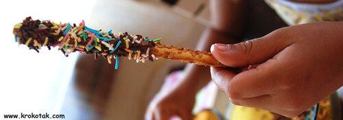 Des bâtonnets au Nutella