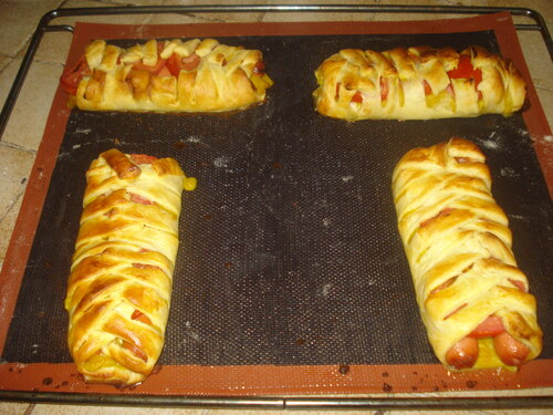 Mes Feuilletés individuels façon Hot Dog