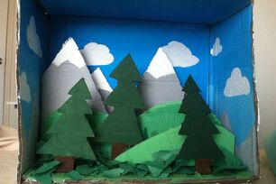 Cardboard Mountain Box - DIY
