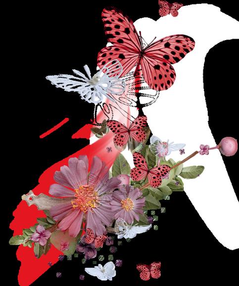 Tubes déco avec Fleurs