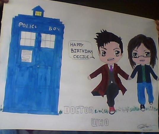 Dessin Docteur Who pour une amie