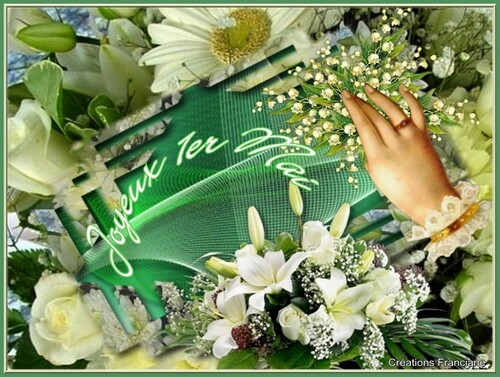 joyeux 1er Mai à toutes et à tous , du muguet virtuel porte-bonheur pour vous