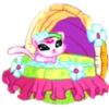 Coco dans son petit lit