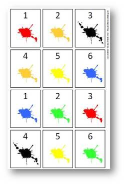 Numération - Jeu de cartes nombre/couleur, 1 à 10