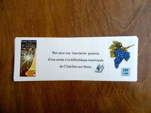 La bibliothèque Municipale de Châtillon sur Seine a initié un  concours de dessins pour les écoles de la ville, sur le thème de la Saint Vincent...