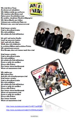 "Chant ""Altes Fieber"" - Allemand"