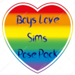 Boy's Love Sims - Pose Pack Groupe