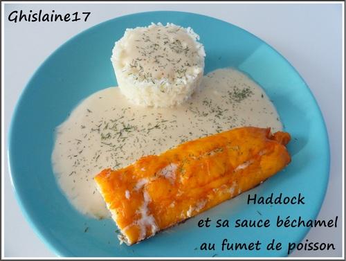 Haddock à la sauce béchamel et fumet de poisson