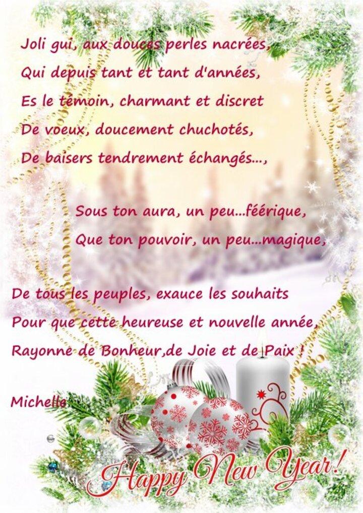 Mon poème de Bonne année !