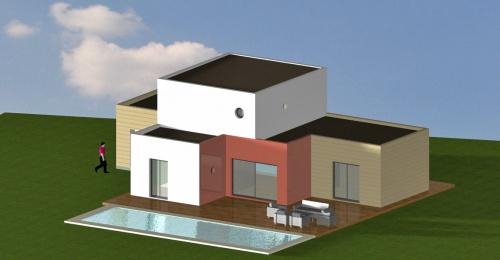Construction d\'une maison contemporaine (bois & béton)- Fév ...