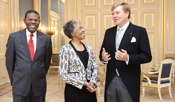 Willem Alexander et la gouverneure