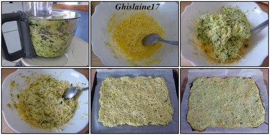 Roulé de courgette et pomme de terre au jambon et fromage