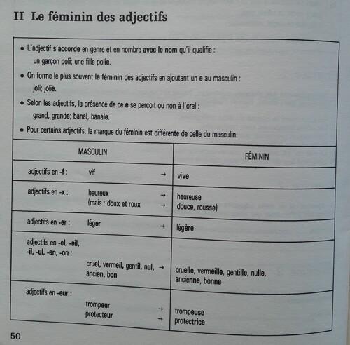F / L'accord en genre