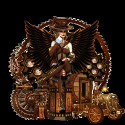 Ange gardien ailé steampunk code inclu