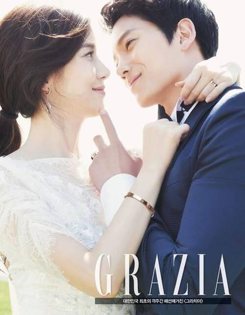 Lee Bo Young et Ji Sung pour Grazia