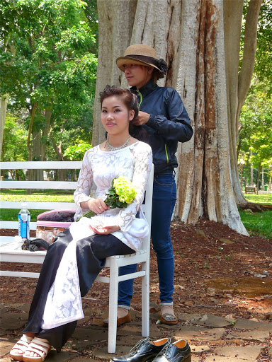 photos de mariage dans un parc
