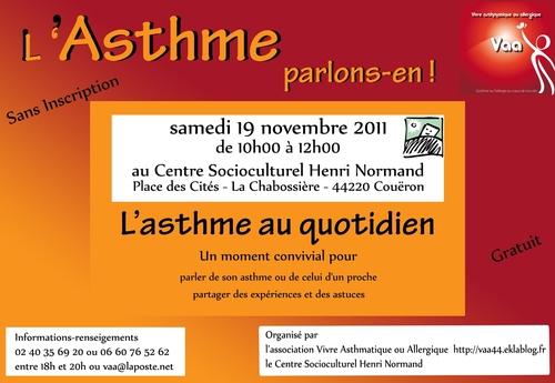 """Groupe de parole """"l'asthme, parlons-en"""" le 19/11/2011"""