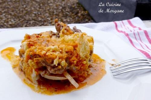 Crumble Boeuf, tomate et gorgonzola
