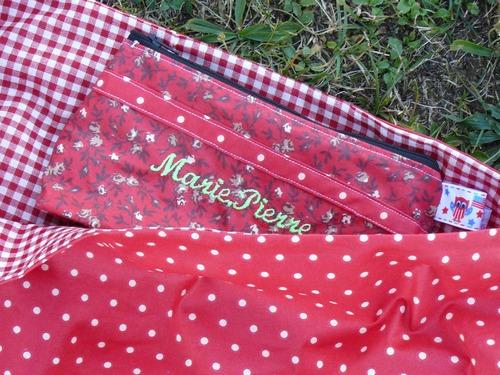 "sac baluchon ""fraise des bois"""
