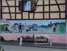 * Haut-Rhin * Trompe l'oeil maison à Sundhoffen
