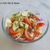 salade de pommes et tomates