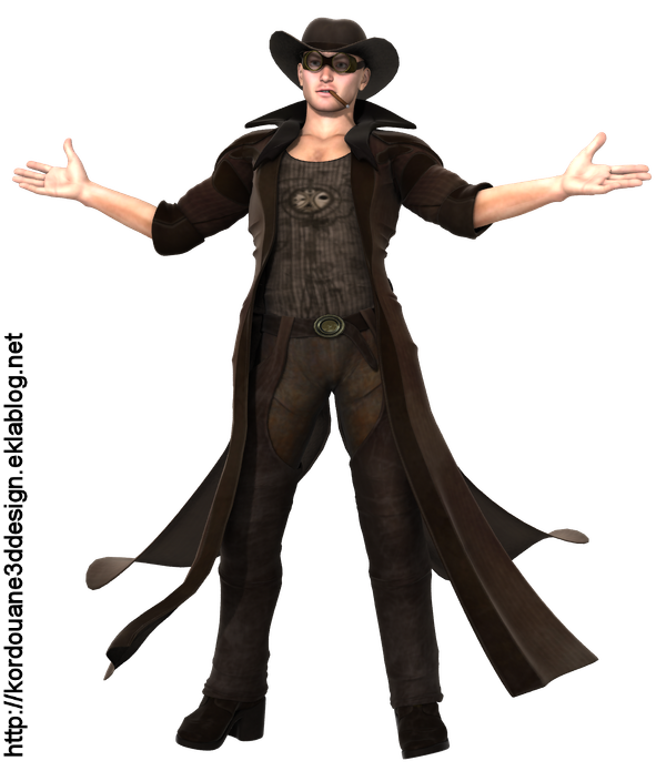 Tube homme cow-boy (image-render)