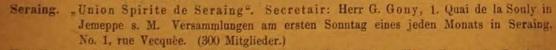 Groupe spirite de Seraing avec G.Gony en 1895