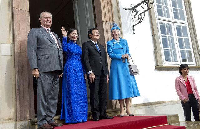 Margrethe et ses invités