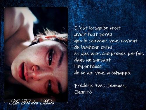 Frédéric-Yves Jeannet, Charité