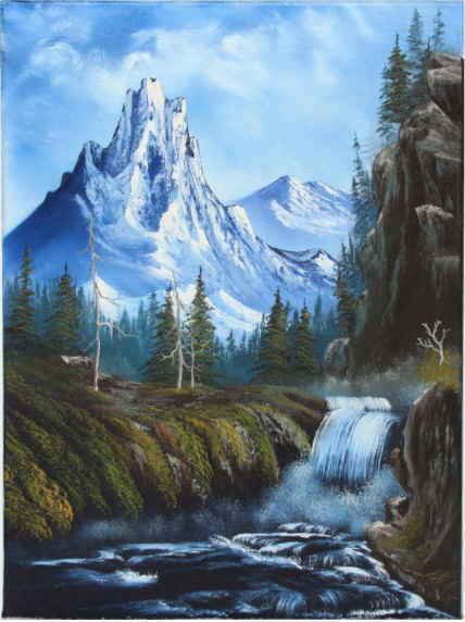 Bob Ross The Joy Of Painting Royal Majesty Video Fathia Artdeco