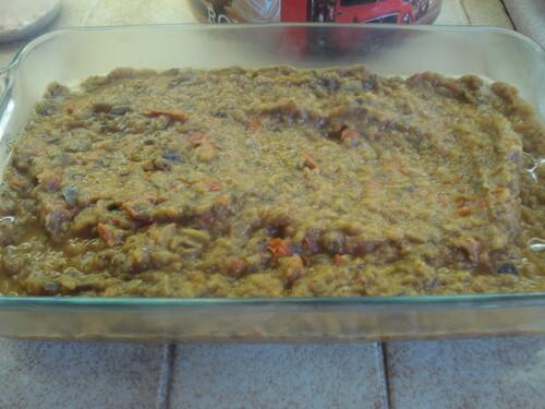 Un Crumble d'Aubergines et Mozzarella