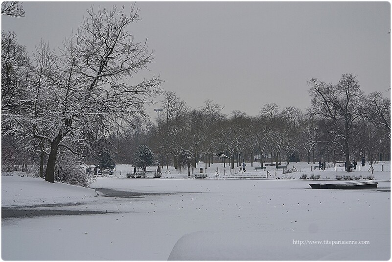 L'hiver au lac Daumesnil, Vincennes